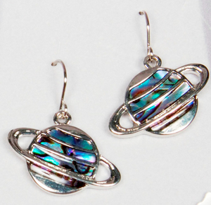 Saturn Abalone Earrings