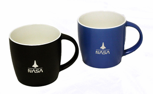 Shuttle Over NASA Mug Choice of Black or Blue