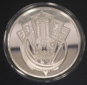 Space Shuttle Commemorative Silver Coin