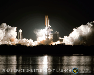STS-131 Space Shuttle Discovery Night Launch Poster