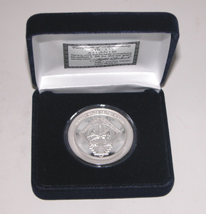 STS 135 Atlantis Mission Silver Coin