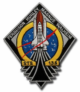 STS 135 Space Shuttle Atlantis Patch