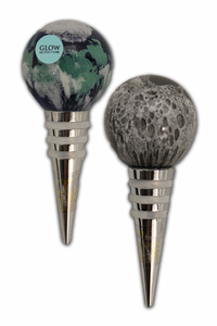 Wine Stoppers - Earth and Moon - Glow in the Dark