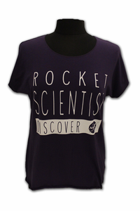 Ladies T-Shirt Rocket Scientist Purple