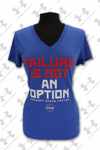 Womens T-Shirt Under Armour Failure Is Not An Option Royal
