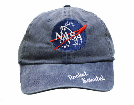 Kids Official NASA Meatball and Rocket Scientist Hat Navy