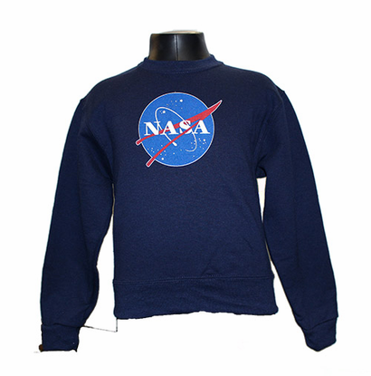 Kids Official NASA Meatball Crew Sweatshirt Navy