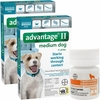 12 MONTH Advantage II Flea Control for Medium Dogs (11-20 lbs) + Tapeworm Dewormer for Dogs (5 Tablets)