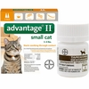2 MONTH Advantage II Flea Control for Small Cats (5-9 lbs) + Tapeworm Dewormer for Cats (3 Tablets)