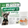 4 MONTH Advantage II Flea Control for Small Dogs (under 10 lbs) + Tapeworm Dewormer for Dogs (5 Tablets)