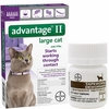 6 MONTH Advantage II Flea Control for Large Cats (over 9 lbs) + Tapeworm Dewormer for Cats (3 Tablets)