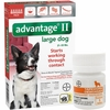 6 MONTH Advantage II Flea Control for Large Dogs (21-55 lbs) + Tapeworm Dewormer for Dogs (5 Tablets)
