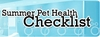 Summer Pet Health Checklist