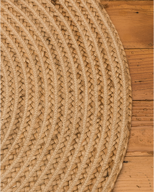 Abeo Jute Round Rug - Clearance