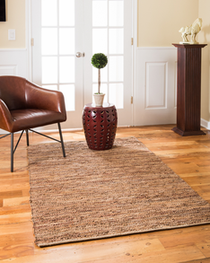 Adore Leather Rug w/ FREE Rug Pad