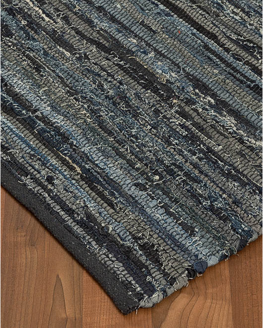 Alta Cotton Leather Rug - Clearance