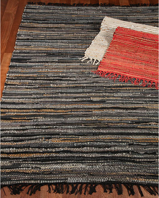 Ambiance Leather Rug w/ FREE Rug Pad