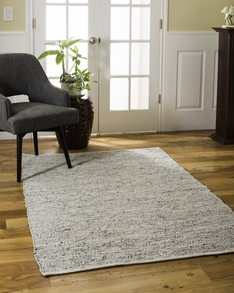 Anchor Leather Rug w/ FREE Rug Pad