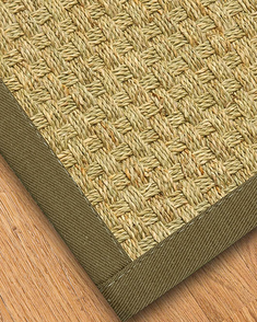 Basketweave Seagrass Rug, Malt - Clearance