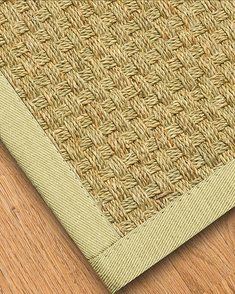 Basketweave Seagrass Rug, Sand - Clearance
