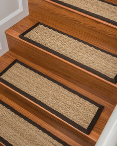 Beach Seagrass Carpet Stair Treads   Espresso
