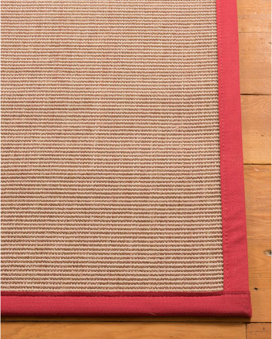 "Blair Sisal Rug, Red (1.25"" Top Stitch Standard) - Clearance"