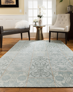 Blue Moon Patchwork Rug w/ FREE Rug Pad