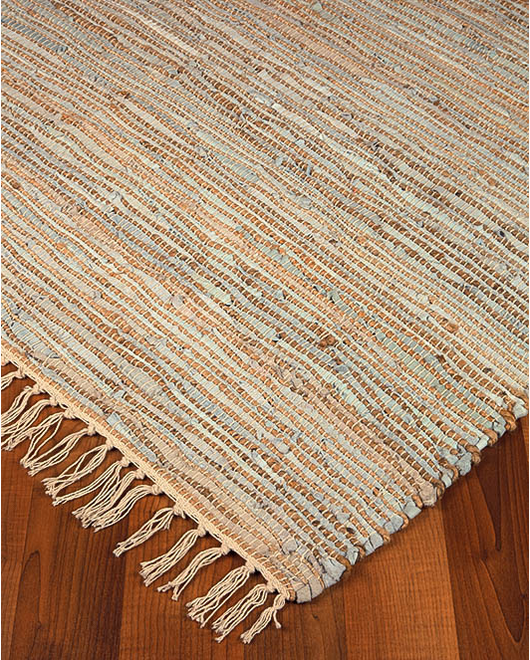 Brilliance Jute Leather Rug - Clearance