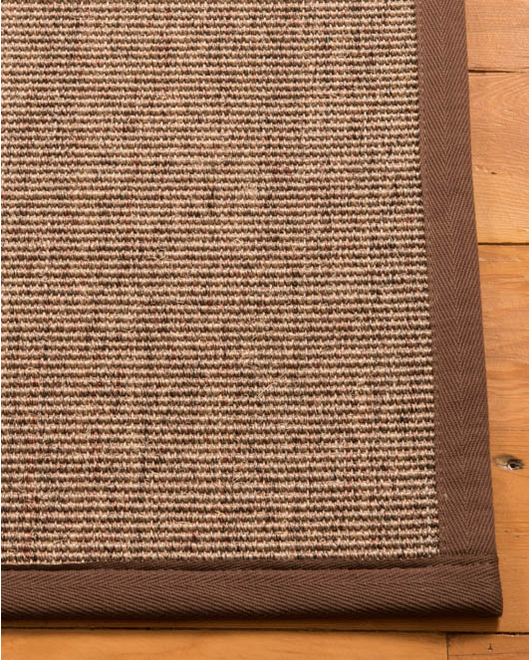 "Caroline Sisal Rug, Fudge (1.25"" Top Stitch Standard) - Clearance"