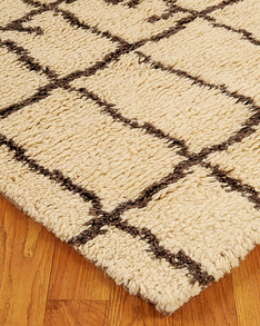 Colours Moroccan Wool Rug w/ FREE Rug Pad