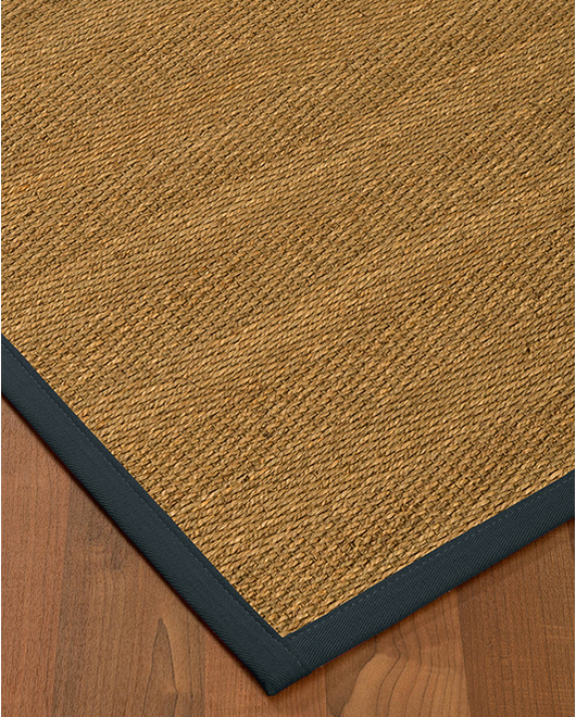 "Costa Rica Seagrass Rug, Marine (1.25"" Top Stitch Standard) - Clearance"