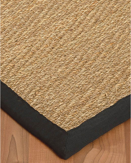 Four Seasons Seagrass Rug, Black - Clearance