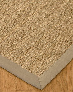 Four Seasons Seagrass Rug, Light Khaki w/ FREE Rug Pad