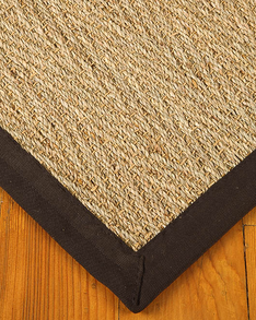 Four Seasons Seagrass Rug, Mocha w/ FREE Rug Pad