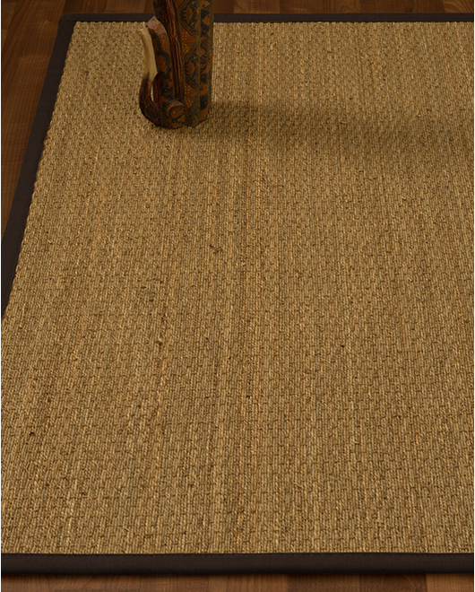 Half Panama Seagrass Rug, Fudge - Clearance
