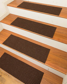 Halton Carpet Stair Treads, Chocolate