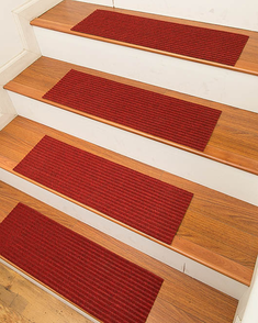 Halton Carpet Stair Treads, Red