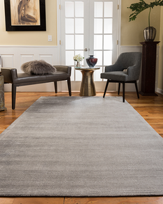 Harrison Contemporary Rug, Silver w/ FREE Rug Pad