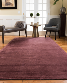 Harrison Contemporary Rug, Wine w/ FREE Rug Pad