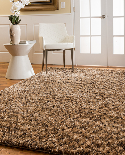 Maldives Shag Rug, Honey w/ FREE Rug Pad