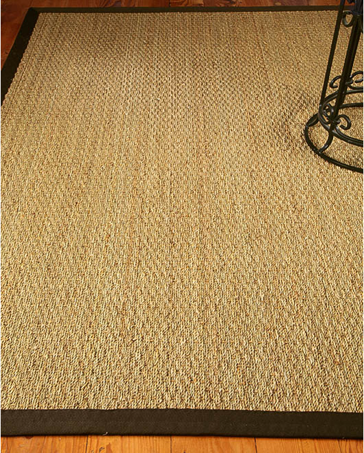 Maritime Natural Seagrass Rug, Mocha w/ FREE Rug Pad
