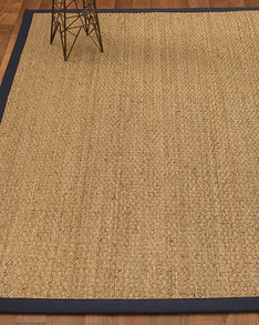 Maritime Natural Seagrass Rug, Navy