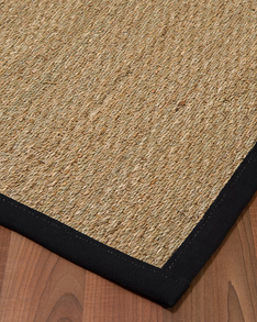 Mayfair Seagrass Rug, Black w/ FREE Rug Pad