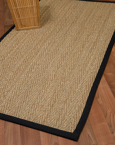 Opulence Seagrass Rug, Black w/ FREE Rug Pad