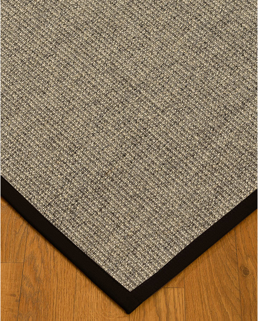 "Posada Sisal Rug, Black (1.25"" Top Stitch Standard) - Clearance"
