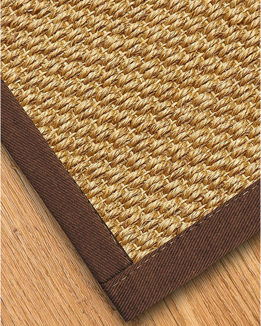Rustic Sisal Rug, Brown - Clearance