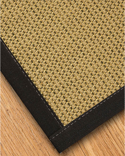 Sonoma Wool Sisal Rug, Black - Clearance
