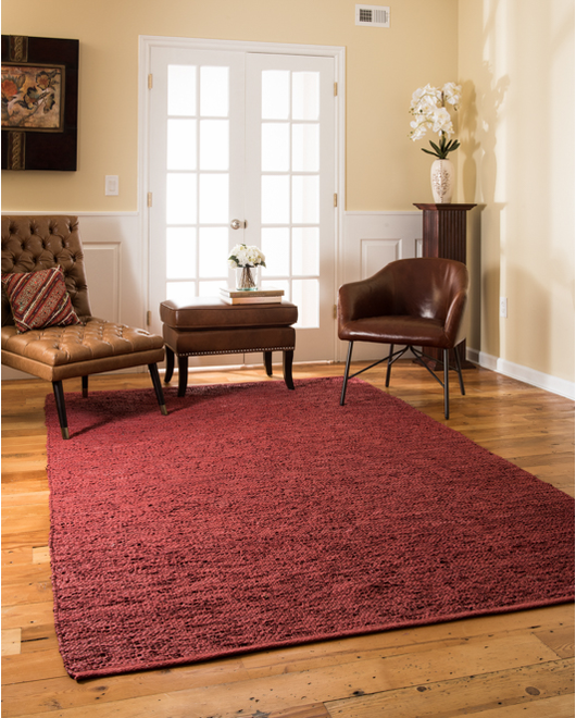 Soriano Leather Rug w/ FREE Rug Pad