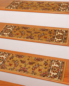 Sydney Traditional Style Carpet Stair Treads, Gold