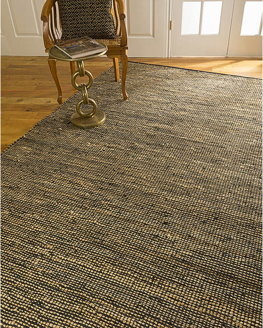 Tonya Jute Leather Rug - Clearance